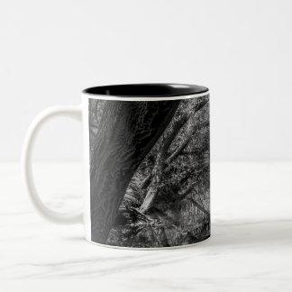 Black and White River Nature Photography Mug