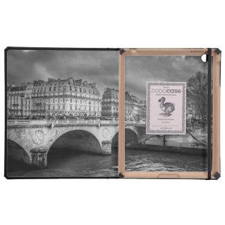 Black and White River Seine iPad Cases