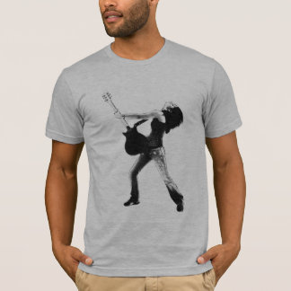 Black and White Rock Girl T-Shirt