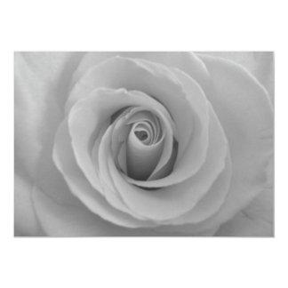 "Black and White Rose 5"" X 7"" Invitation Card"