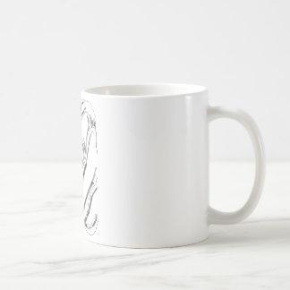 black and white rose mug