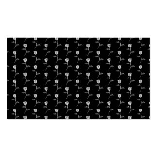 Black and White Rose Pattern. Business Card Template