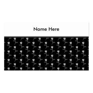 Black and White Rose Pattern. Business Card Templates