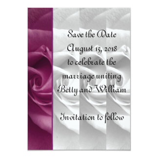Black and White Rose Save the Date Card #2 - ELLEN Custom Invitations