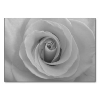 Black and White Rose Table Card