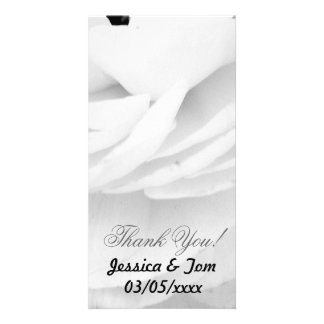 Black and White Rose wedding Picture Card
