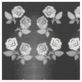 BLACK AND WHITE ROSES LINENS AND FABRICS