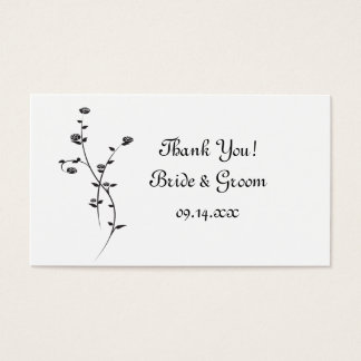 Wedding Favor Tags Australia : 21+ White Rose Wedding Thank You Business Cards and White Rose Wedding ...