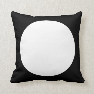 Black and White Round with reverse side Triangle Cushion