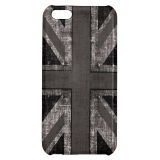 black and white rustic grunge Union Jack iPhone 5C Case