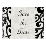 Black and White! Save the Date Post Cards