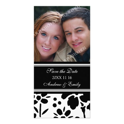 Black and White Save the Date Wedding Photo Cards