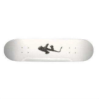 Black and white saxophone and two hands skate board