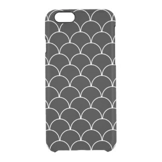Black and White Scallop Pattern Clear iPhone 6/6S Case
