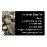 Black and White Seashells Business Card