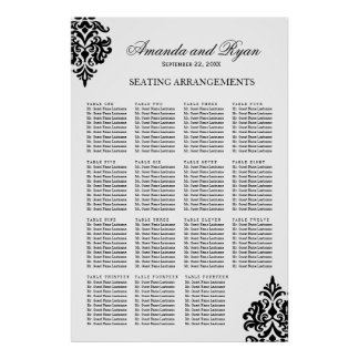 Black and White Seating Arrangement Poster