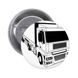 Black and white semi truck buttons