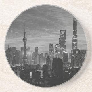 Black and White Shanghai Beverage Coasters
