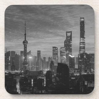 Black and White Shanghai Coasters