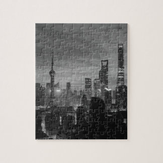Black and White Shanghai Jigsaw Puzzle