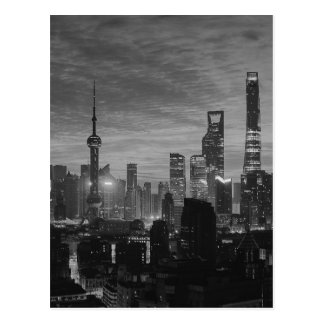 Black and White Shanghai Postcard