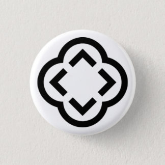 Black and White Shape 3 Cm Round Badge