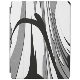 Black and White Shape Art iPad Cover