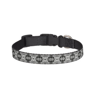 Black and White Shape Art Pet Collar