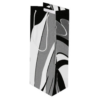 Black and White Shape Art Wine Gift Bag