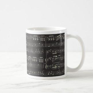 Black And White Sheet Music Coffee Mug