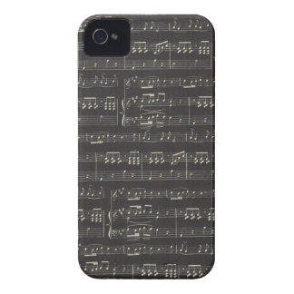 Black And White Sheet Music iPhone 4 Cover