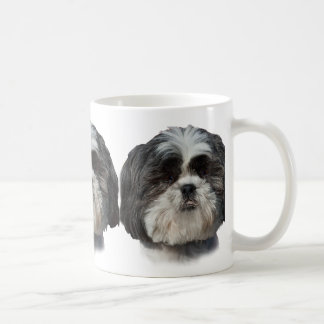 Black and White Shih Tzu Dog Basic White Mug