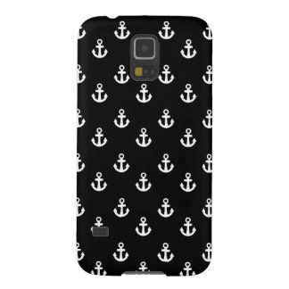 Black and White Ships Anchors Pattern Case For Galaxy S5