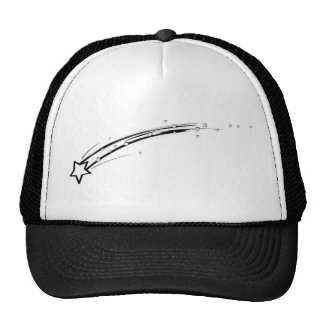 Black and White Shooting Star Trucker Hats