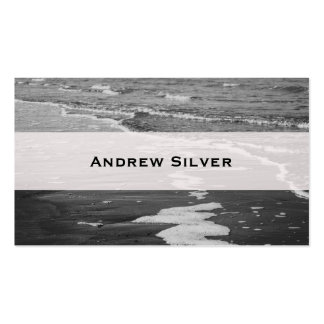Black and White Shore Modern Clean Business Cards