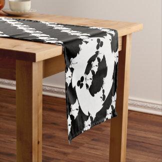 Black And White Short Table Runner