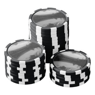 Black and White Sichuan Mountains Poker Chips