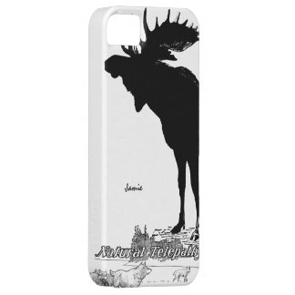 Black and White Silhouette Vintage Moose Wolf iPhone 5 Cover