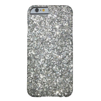 "Black and White ""Silver"" granite Pattern Barely There iPhone 6 Case"