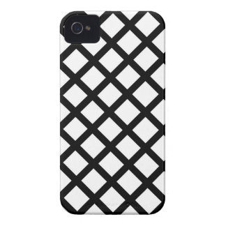 Black and white simple pattern Case-Mate iPhone 4 case