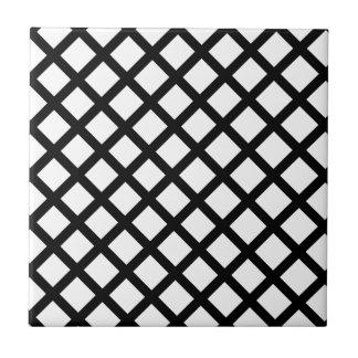 Black and white simple pattern ceramic tile