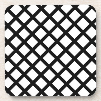Black and white simple pattern coaster