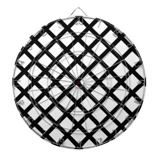 Black and white simple pattern dartboard