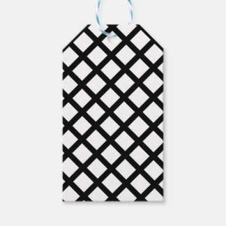 Black and white simple pattern gift tags