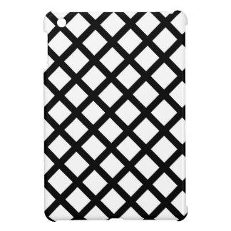 Black and white simple pattern iPad mini cases