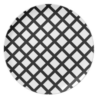 Black and white simple pattern plate