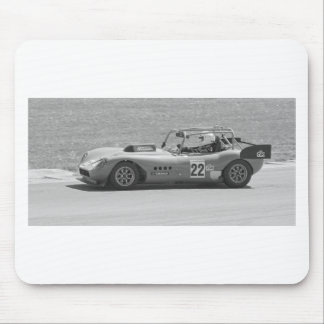 Black and white single seater race car mouse pad