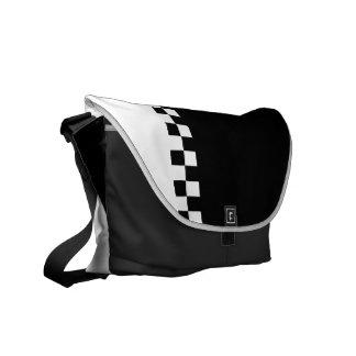 black and white ska checkers messenger bag