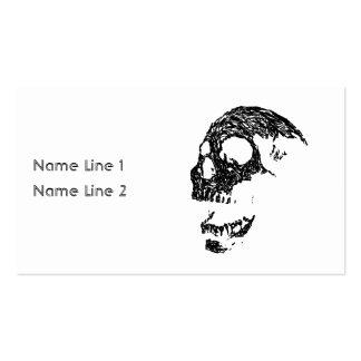 Black and White Skull Design. Business Card