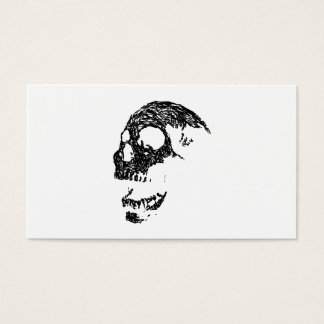 Black and White Skull Design. Business Card